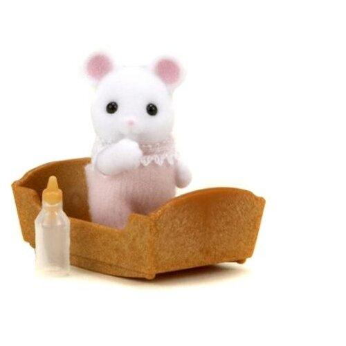 Купить Игровой набор Sylvanian Families Малыш белый мышонок 3420/5069, Игровые наборы и фигурки