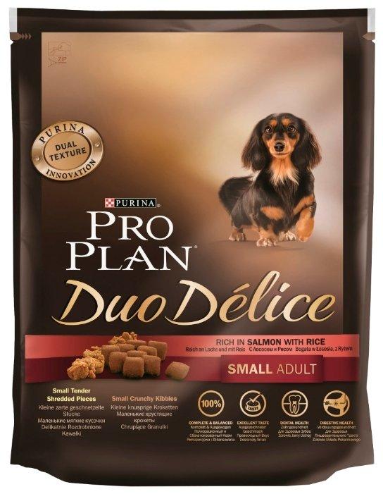 Корм для собак Purina Pro Plan Duo Delice лосось с рисом (для мелких пород)