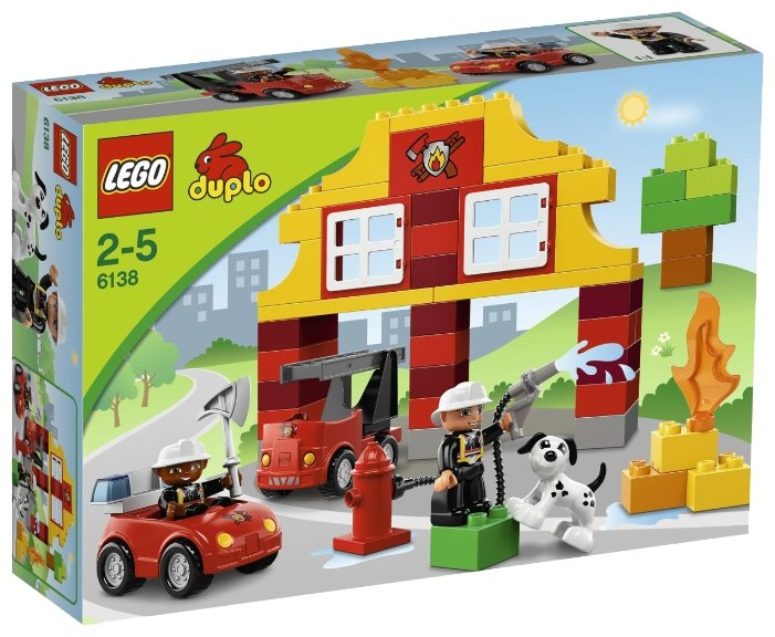 Конструктор LEGO Duplo 6138 Моя первая пожарная станция