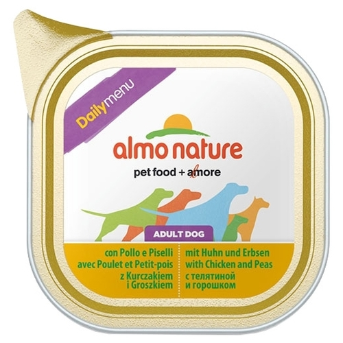 Корм для собак Almo Nature DailyMenu Bio Pate Adult Dog Chicken with Peas (0.1 кг) 1 шт.