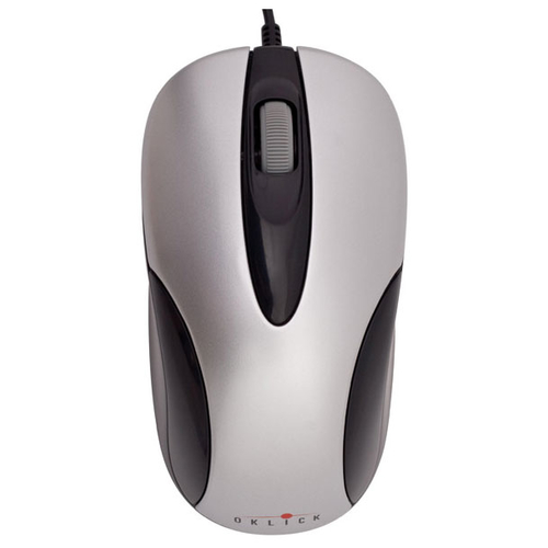 Мышь Oklick 151 M Optical Mouse Silver-Black USB
