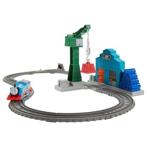 Fisher-Price Стартовый набор Томас с подъемным краном Крэнки, серия TrackMaster, DVF73Наборы, локомотивы, вагоны<br>