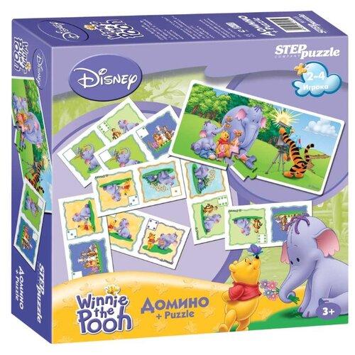 Настольная игра Step puzzle Домино Медвежонок Винни и Слонотоп (Disney) настольная игра step puzzle домино disney тачки 80107
