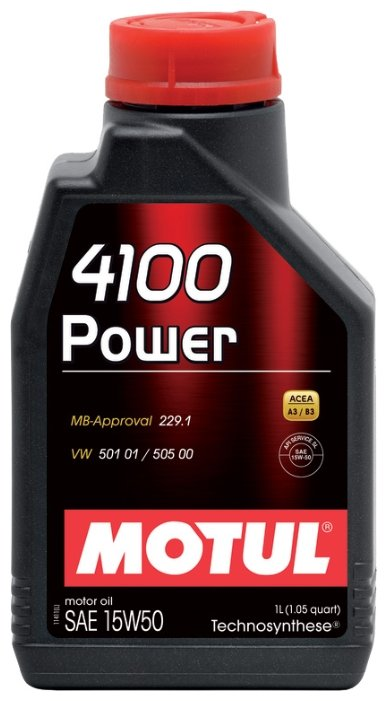 Моторное масло Motul 4100 Power 15W50 1 л