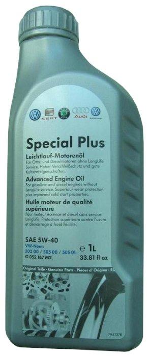 Моторное масло VOLKSWAGEN Special Plus 5W-40 1 л — купить по выгодной цене на Яндекс.Маркете