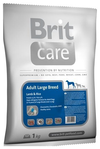 Корм для собак Brit Care Adult Large Breed Lamb & Rice