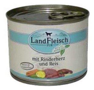 Корм для собак Dr. Alder`s ЛАНДФЛЯЙШ Деревенское мясо сердце + рис + овощи рубленое мясо Для взрослых собак (0.195 кг) 1 шт.