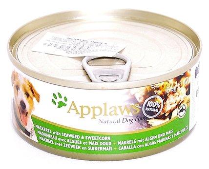 Корм для собак Applaws скумбрия с водорослями, с кукурузой 16шт. х 156г