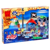 """Конструктор пластиковый """"Пиратский форт"""" 206 деталей Enlighten (Brick) Г28681 309"""