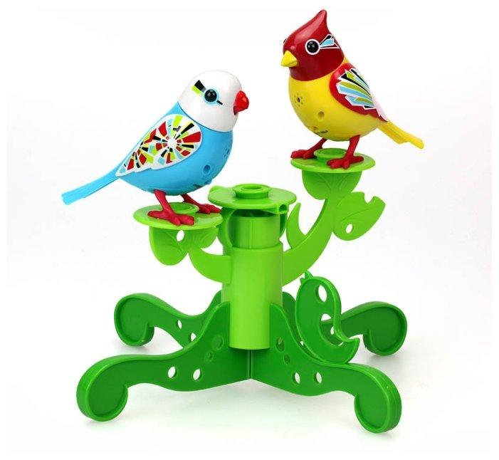 Интерактивная игрушка робот Silverlit DigiBirds Две птички с деревом