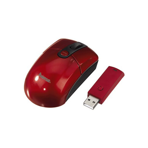 Мышь HAMA M646 Wireless Optical Mouse Red USB