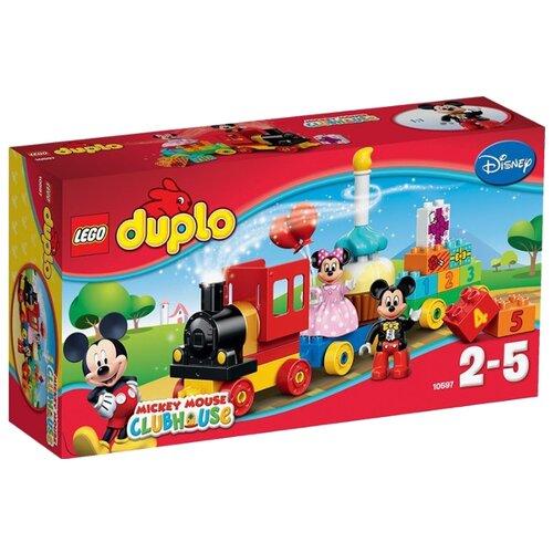 Конструктор LEGO Duplo 10597 День рождения Микки и Минни lego duplo 10873 конструктор лего дупло дисней день рождения минни