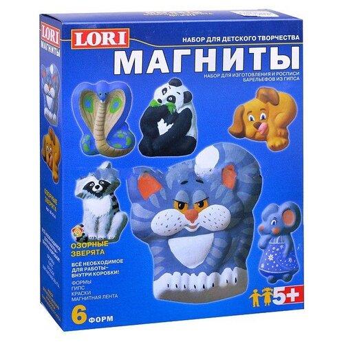 Купить LORI Магниты - Озорные зверята (М-014), Гипс