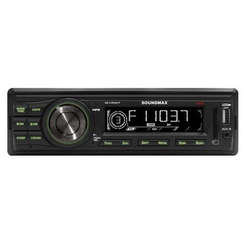 Автомагнитола SoundMAX SM-CCR3047F, черная