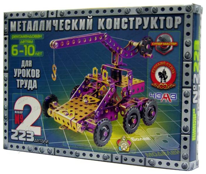 Винтовой конструктор Русский стиль Конструктор №2 (для уроков труда)