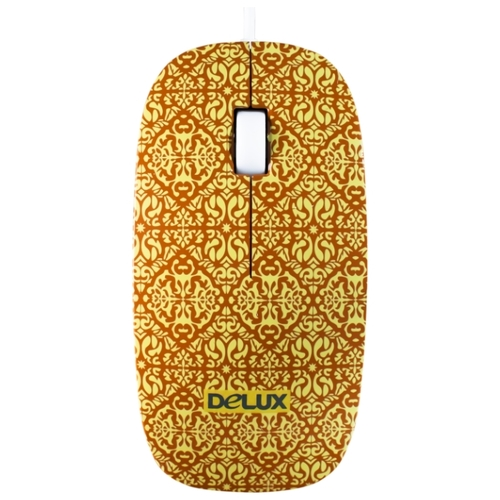 Мышь Delux DLM-111 Yellow-Black USB