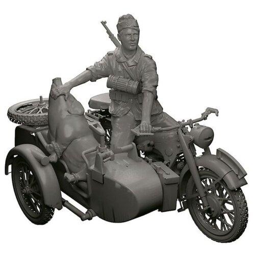 Купить Сборная модель ZVEZDA Немецкий мотоцикл с коляской и экипажем БМВ Р-12 (3607) 1:35, Сборные модели