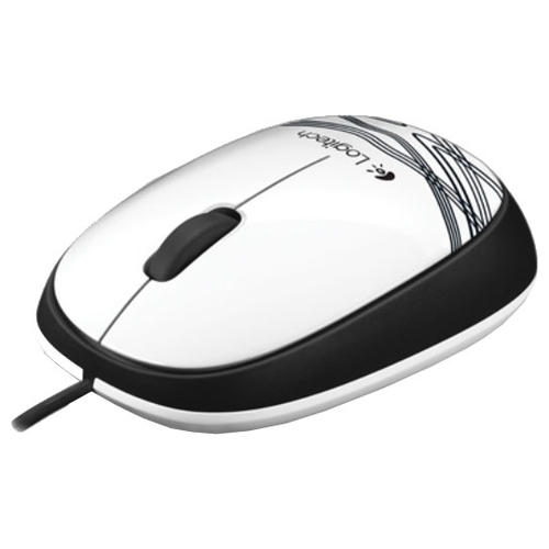 Мышь Logitech Mouse M105 White USB