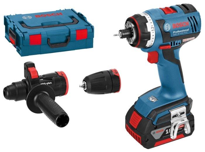 Bosch GSR 18 V-EC FC2 4.0Ah x2 L-BOXX Set1