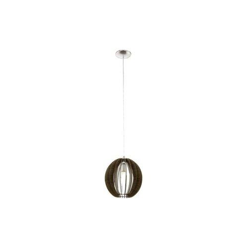 Потолочный светильник Eglo 94635, E27, 60 Вт, кол-во ламп: 1 шт., цвет арматуры: никель, цвет плафона: коричневый потолочный светильник eglo 94635 e27 60 вт