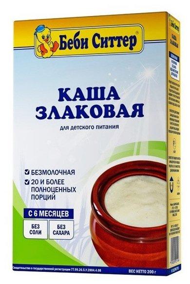 Каша Беби Ситтер безмолочная злаковая (с 6 месяцев) 200 г