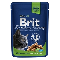 Корм для кошек Brit Premium Pouches for Sterilised