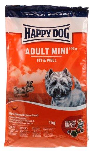 Happy Dog (1 кг) Supreme Fit&Well - Adult Mini для взрослых собак мелких пород
