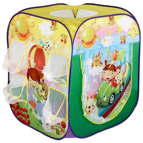 Купить Палатка Calida Путешественники 707 зеленый/желтый/фиолетовый, Игровые домики и палатки