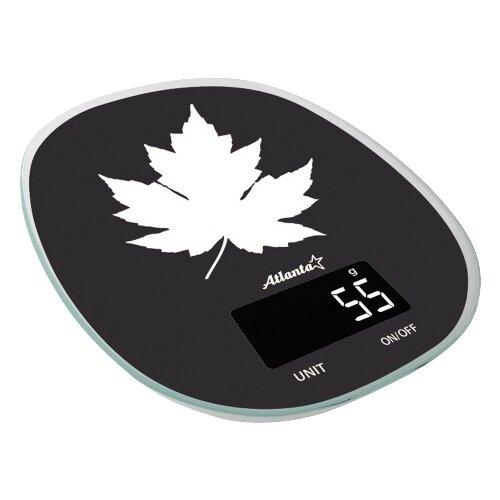 Кухонные весы Atlanta ATH-6209 черный/белый весы напольные atlanta ath 6131 white