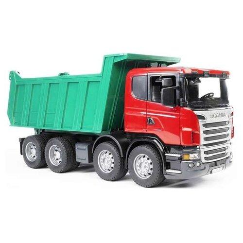 Купить Грузовик Bruder Scania (03-550) 1:16 54 см зеленый/красный, Машинки и техника