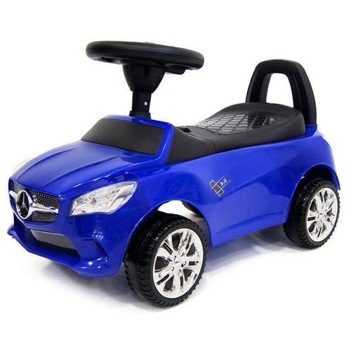 Купить Каталка-толокар RiverToys Mercedes JY-Z01C со звуковыми эффектами синий, Каталки и качалки