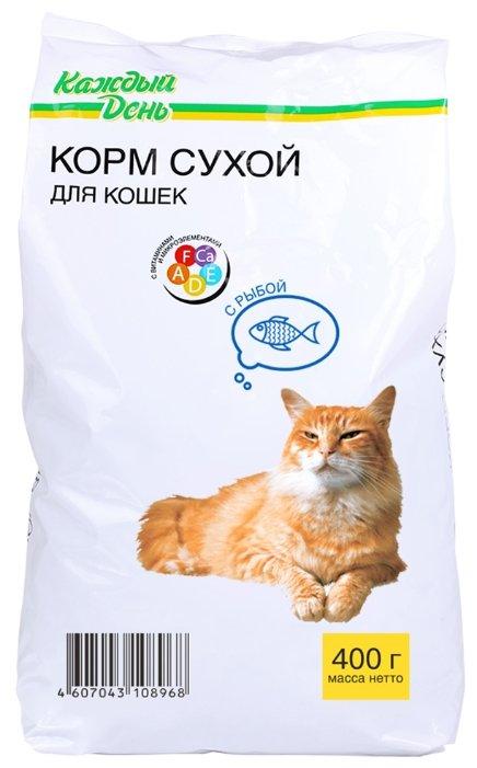 Каждый День Сухой корм для кошек с рыбой (0.4 кг)