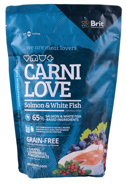 Корм для собак Carnilove Carnilove Salmon & White fish for adult dogs (1.5 кг)