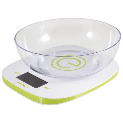 Кухонные весы Energy EN-425 белый/зеленый кухонные весы energy en 426 бамбук