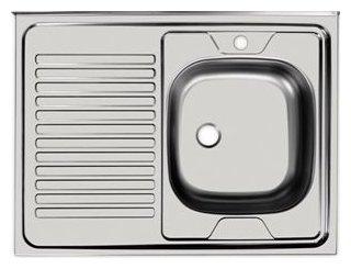 Накладная кухонная мойка UKINOX Standart STD 800.600-4C 80х60см нержавеющая сталь