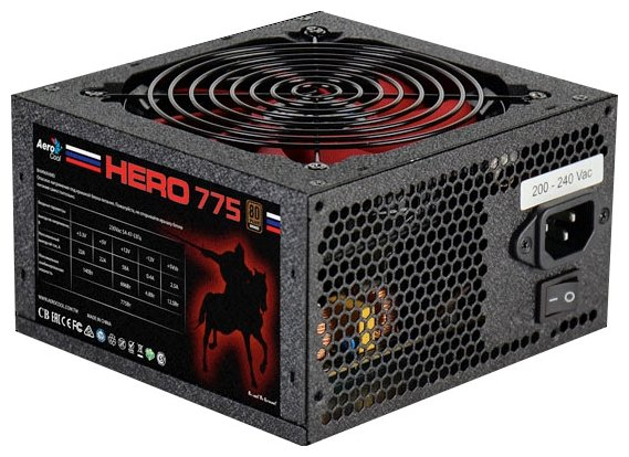 AeroCool Блок питания AeroCool Hero 775W