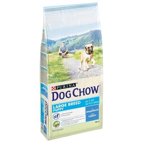 Корм для собак DOG CHOW (14 кг) 1 шт. Puppy Large Breed с индейкой для щенков крупных породКорма для собак<br>