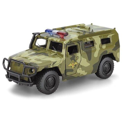 Внедорожник ТЕХНОПАРК ГАЗ 2330 Тигр Вооруженные силы (X600-H09052-R) 12 см хаки камуфляж по цене 420
