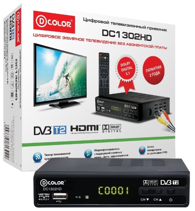D-COLOR TV-тюнер D-COLOR DC1302HD