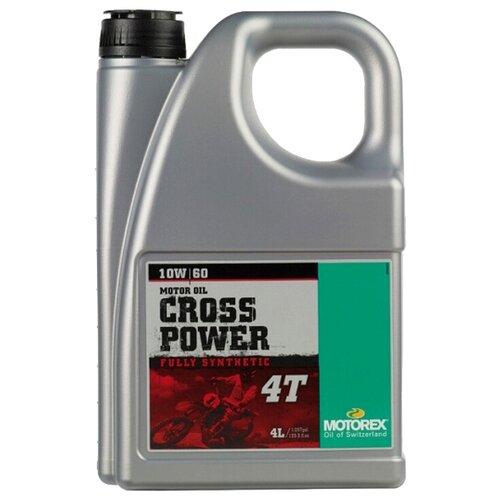 Фото - Синтетическое моторное масло Motorex Cross Power 4T 10W-60 4 л синтетическое моторное масло motorex power synt 4t 5w 40 4 л