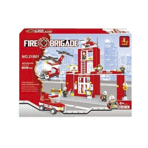 Купить Конструктор Ausini Пожарная бригада 21801, Конструкторы
