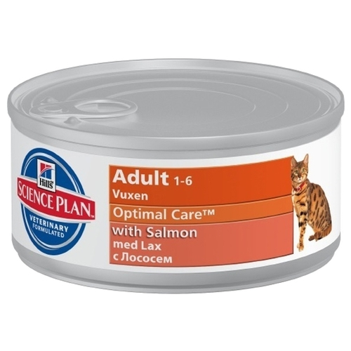 Hill's Science Plan (0.085 кг) 3 шт. Feline Adult with Salmon Canned Корма для кошек