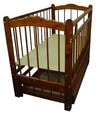 Кроватка Happych Кровать поперечный маятник, колеса, автоспинка и ящик