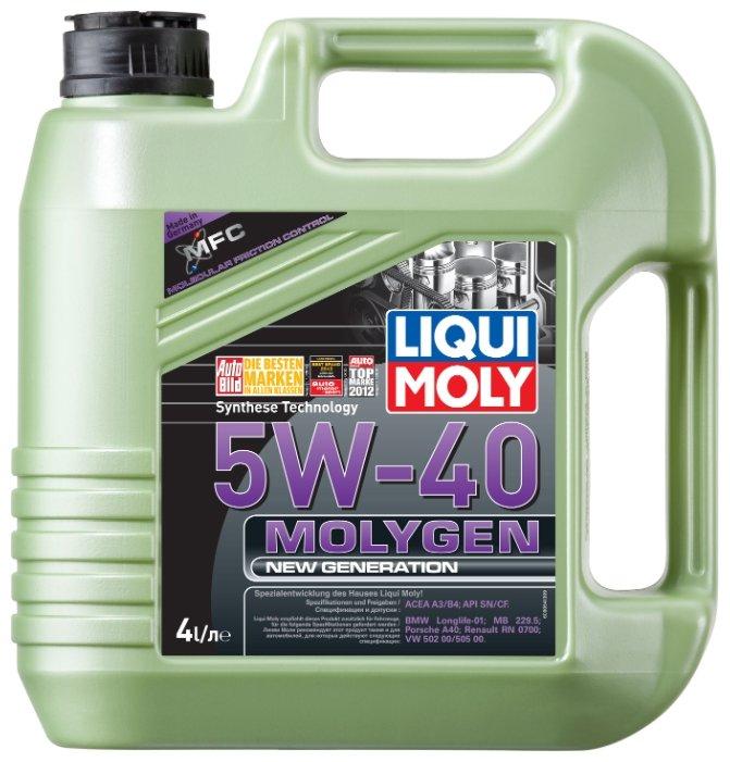 Моторное масло LIQUI MOLY Molygen New Generation 5W-40 4 л