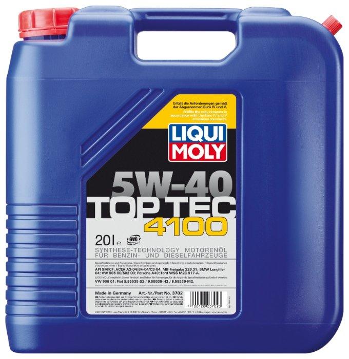 Моторное масло LIQUI MOLY Top Tec 4100 5W-40 20 л