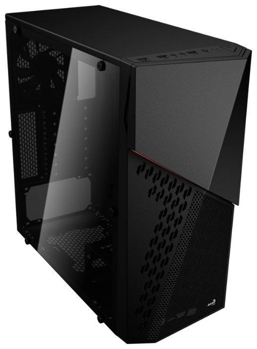 Корпус для компьютера AeroCool CyberX Advance Black w/o PSU