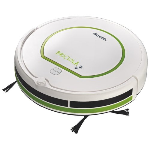Робот-пылесос Ariete 2711 Briciola, белый/зеленый