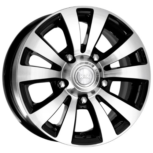 Фото - Колесный диск K&K Фалкон 6х15/5х139.7 D98 ET35, 7.5 кг, Алмаз черный колесный диск tech line 544 6х15 5х105 d56 6 et39 7 2 кг s