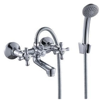 Двухрычажный смеситель для ванны с душем Rossinka Silvermix H02-81