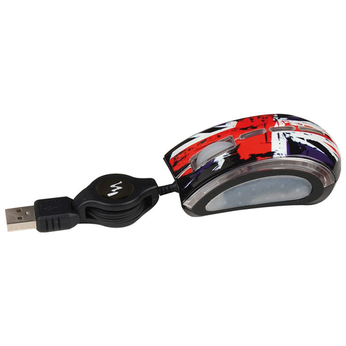 Мышь T'nB GUPPY VIP ROCK Black-Red USB